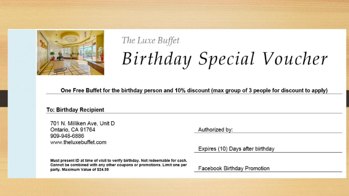 birthday coupon